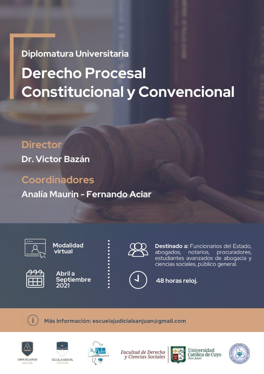 Diplomatura Universitaria en  Derecho Procesal Constitucional  y Convencional